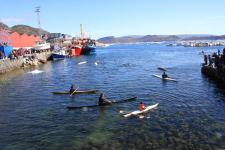 <h5>Qaqortoq 2009</h5><p>Nationaldagen, hvor der bl.a. var kajakopvisning. Photo/foto © Otto Motzfeldt</p>