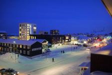 <h5>Nuuk</h5><p>Najaaraq Fontain har taget dette smukke billede af Nuuk midtby klædt i sne. Copyright Najaaraq Fontain</p>