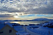 <h5>Qaqortoq</h5><p>Kristian Boassen har taget dette smukke billede fra byen. Copyright Kristian Boassen</p>
