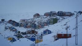 <h5>Qaqortoq</h5><p>Kunuk Mølgaard Motzfeldt har taget dette smukke billede fra byen. Copyright Kunuk Mølgaard Motzfeldt</p>