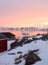 <h5>Qaqortoq</h5><p>Susanne Heilmann har taget dette smukke billede i april 2014. Copyright Susanne Heilmann</p>