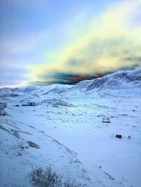 <h5>Qasigiannguit</h5><p>Nukardlek Didriksen har taget dette smukke billede en morgen i marts. © Nukardlek didriksen.</p>