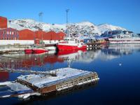 <h5>Qaqortoq </h5><p> Billedet taget nede ved havnen tæt på Brættet den 15. marts 2015. Photo/foto © Kunuk Mølgaard Motzfeldt.</p>