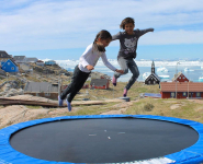 <h5>Ilulissat</h5><p>© Hervé Danis. Picture from Ilulissat. Kids jumping.</p>