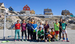 <h5>Ilulissat</h5><p>© Hervé Danis. Picture from Ilulissat. Great picture of som football players</p>
