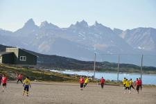 <h5>Greenland - land of beauty 2016</h5><p>Billede nr. 56: © Thala Geraae-Nielsen.  Nanortalimmi aasaanerani Nan-Cup Nanortalik nunaqarfiilu unammiuaartut isikkivigingaartumi. </p>