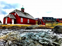 <h5>Qaqortoq</h5><p>Den gamle kirke. Photo/foto © Nuka Korsgaard</p>